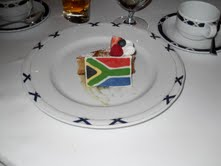 Cake with South African Flag
