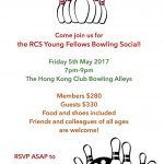 Young Fellows Bowling Social on 5 May 2017