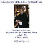 A Celebration of the Life of Sir David Tang