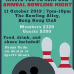 Annual Bowling Night on 11 Oct